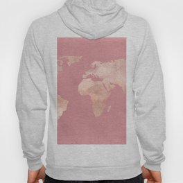 Rosegold World Map Sans Type Hoody