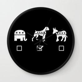 VOTE BOXER Wall Clock