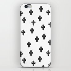 Catctus Black On White iPhone & iPod Skin