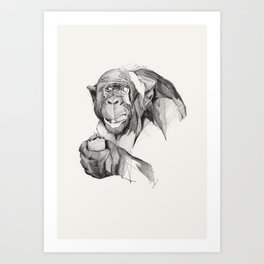 Seven Monkeys – Gluttony Art Print
