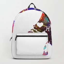 The Hague  Quote Art Design Inspirational Motiva Backpack