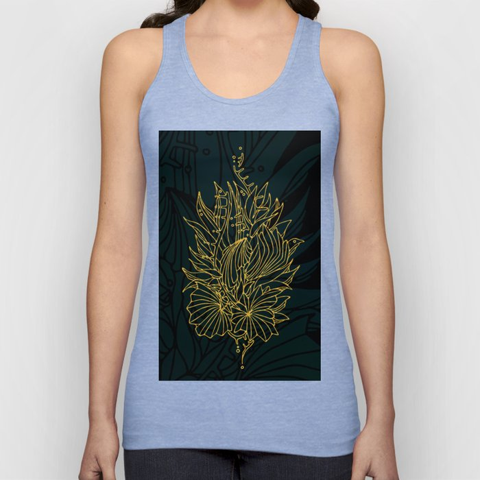 Nested in Gold Unisex Tank Top