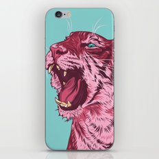 Magenta tiger iPhone & iPod Skin