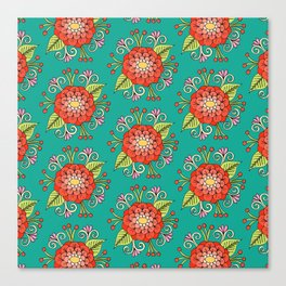 Zinnia Pattern Canvas Print