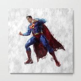 Superman Hero Metal Print