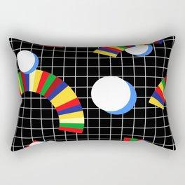 Memphis Grid & Rainbows Rectangular Pillow