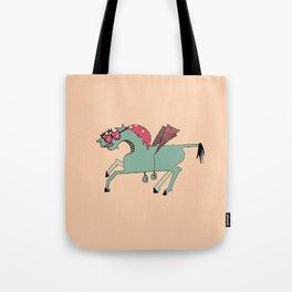 Edgar Pink Tote Bag