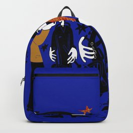 A group of dancers. Backpack