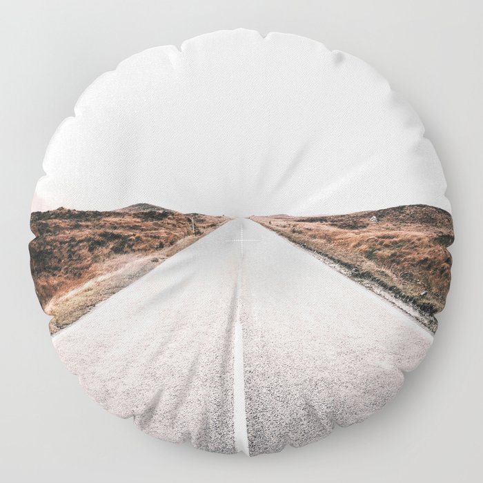 ROAD - HIGH WAY - LANDSCAPE - PHOTOGRAPHY - NATURE - ADVENTURE - SKY Floor Pillow
