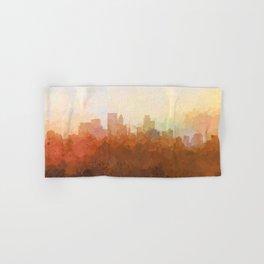 Minneapolis, Minnesota Skyline - In the Clouds Hand & Bath Towel