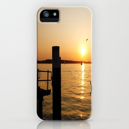Summer feeling at the harbor iPhone Case