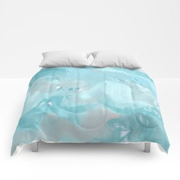 Abstract turquoise carnival Comforters