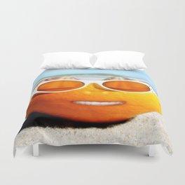 Beached Orange Duvet Cover