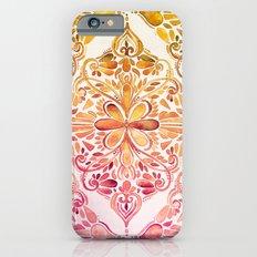 Sunset Art Nouveau Watercolor Doodle Slim Case iPhone 6s
