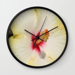 Beautiful Yellow Hibiscus Flower  Wall Clock