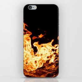 Fire and Water Abstract iPhone Skin