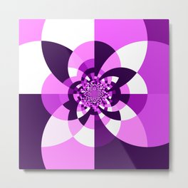 Purple Kaleidoscope Mandala Metal Print
