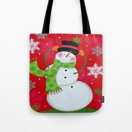 Happy Snowman Tote Bag
