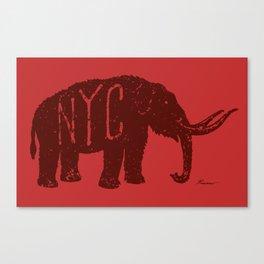 "Mastodon NYC - ""Early Settler"" Canvas Print"