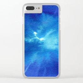Blue Powder Clear iPhone Case