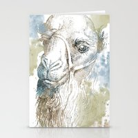 camel Stationery Cards featuring Camel by Zen and Chic