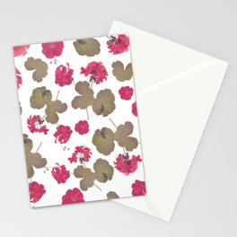 seamless   pattern of geranium flowers . Endless texture Stationery Cards