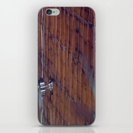 Wood Ceiling, Chrome Fans iPhone Skin