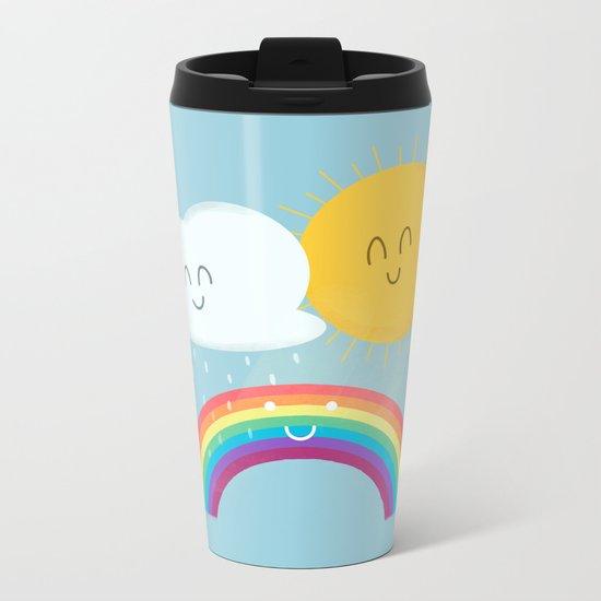 Rainbow's Family Metal Travel Mug