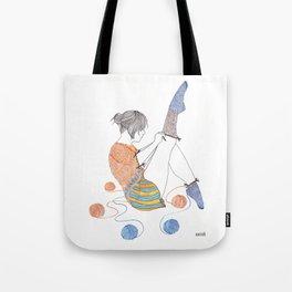 Knitster Girl Socks Tote Bag