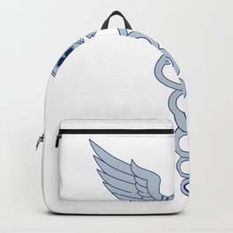 Caduceus With Pilot Wings EMT Star Icon Backpack