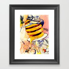 Bee extinction Framed Art Print