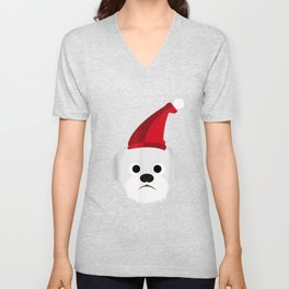 Coton de tulear cute christmas gifts for dog lover Unisex V-Neck