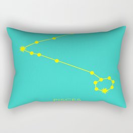 PISCES (YELLOW-TURQUOISE STAR SIGN) Rectangular Pillow