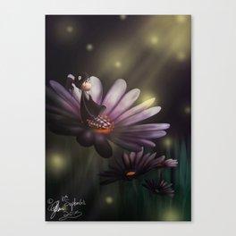 Bathing Under the Moonlight Canvas Print