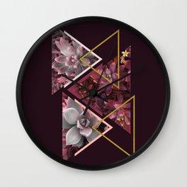 Wine Succulents #society6 #decor #buyart Wall Clock