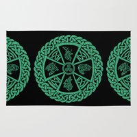 skyrim Area & Throw Rugs featuring Celtic Nature by Astrablink7