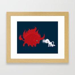 My Little Epic Battle Framed Art Print