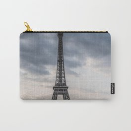 Eiffel Tower Paris Clouds Carry-All Pouch