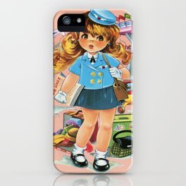 Retro Stewardess Flight Attendant iPhone Case