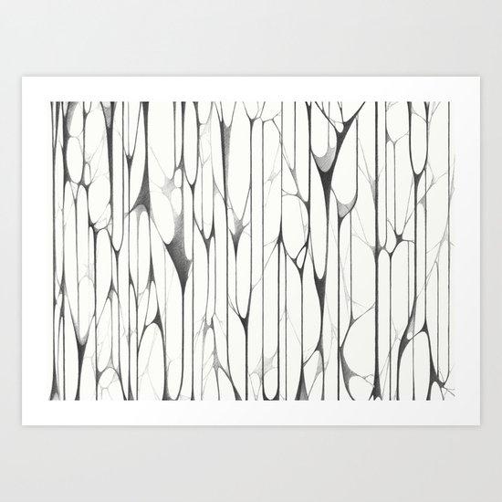Stripy Web  Art Print