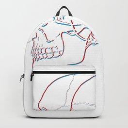 Glitchy Gothic And Devilish Skulls Backpack
