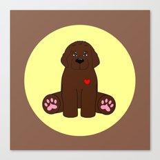 Stuffed Brown Dog Canvas Print