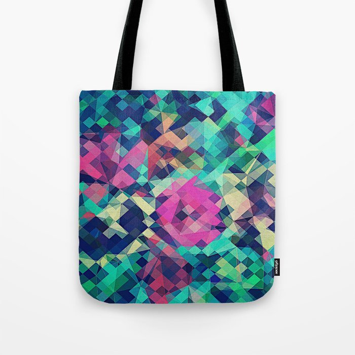 Fruity Rose Fancy Colorful Abstraction Pattern Design Green Pink