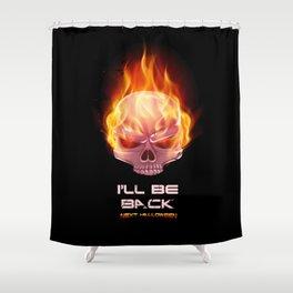 Flaming Skull Shower Curtain