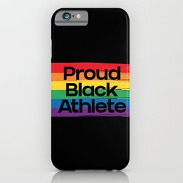 Proud Black Athlete Distressed Texture iPhone Case