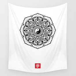 Taoist Lotus Mandala Wall Tapestry