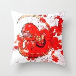 Alien chestbursting Throw Pillow