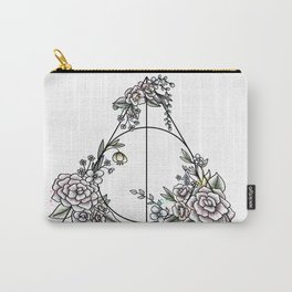 Deathly Hallows floral Carry-All Pouch