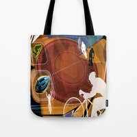 cycling Tote Bags featuring Cycling by Robin Curtiss