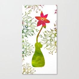 Colorful Art Flower Vase Canvas Print